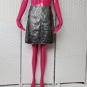 Joe Fresh Black & Silver Skirt